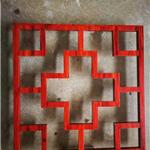 仿古门头红松木铝花格 焊接艺术铝制花格的效果
