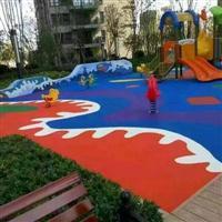 上海幼儿园彩色操场施工方案上海橡胶地垫多少钱一平方
