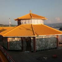 圆形清真寺屋顶玻璃钢瓦 新型防腐隔热高分子瓦