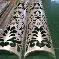 玉林万达购物广场雕花雕刻包柱铝单板-缕空透光包柱铝单板效果图