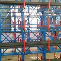 宁波型材货架结构 钢材存放架原理 伸缩悬臂式货架图片