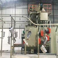 佛山喷砂机红福海有限公司实力企业汽车轮毂处理悬链通过式抛丸机