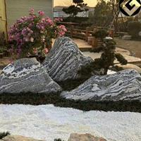 四川造景石头片组合假山石泰山石切片景观石片定制