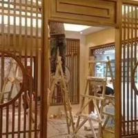 杭州棚户区改造中式铝格栅防盗网-仿古铝花格材料公司