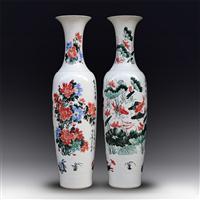 开业乔迁礼品大花瓶 中式摆件大瓷瓶 景德镇陶瓷大花瓶