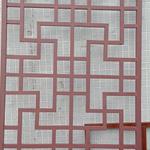 防盗铝花格-红橡木铝合金窗格工艺
