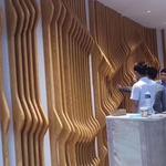 墙面装饰波纹铝方通-木纹弧形铝方通定做