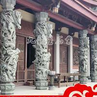 石雕柱子价格-石雕龙柱制作-花岗岩龙柱