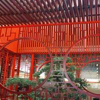 古典中国风仿木纹铝窗花-合院别墅  中式仿古铝窗花隔断厂家定制