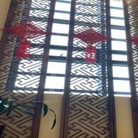 厂家直销广东铝窗花屏风窗花别墅酒店专项使用美丽大方装饰材料定制