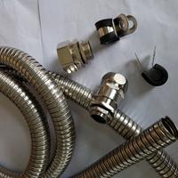 304不锈钢双扣软管 抗拉型线缆保护柔性套管16mm