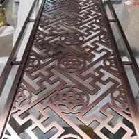 数控雕刻10厘厚铝板【浮雕镀铜色铝单板】定制厂家