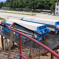 污泥压滤机脱水现场-厢式压滤机定制