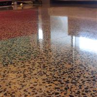 水磨石固化地坪,清洁方便,寿命长