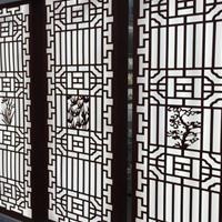 【木纹铝窗花-木纹缕空雕花铝屏风产品生产厂家】
