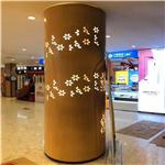 酒店艺术包柱铝单板-柱体金属建材-网红装饰风格
