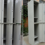东莞十五门不锈钢衣柜 九门钢制储物柜 车间储物柜