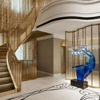 楼梯扶梯厂家阑爵铝艺 批发生产楼梯防护栏等铝艺制品