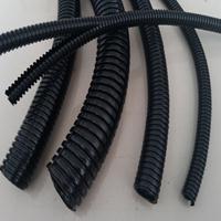 双拼尼龙穿线软管 开口式阻燃波纹管 汽车线束电缆护套管