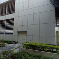 门头铝单板闪银色表面处理-广东德普龙建材