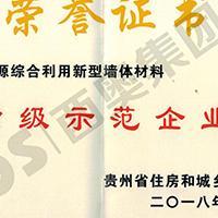 贵州省资源综合利用新型墙体材料示范企业