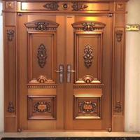 铜艺大门高等加工定制豪华别墅铜门大门双开门纯铜定制进户门直销