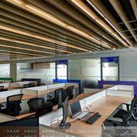 打造工程造型铝单板2.0mm弧形仿木纹方通格栅商场吊顶铝树铝方管