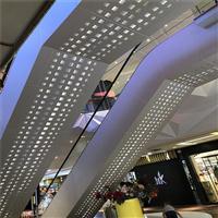 雕花镂空扶梯铝单板装饰-不规则图案冲孔透光铝单板