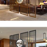 复古铝窗花 餐厅铝花格屏风隔断万字格铝窗花定做厂家直销定做