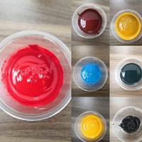 宁波艳绿水性色浆国标铁红色浆添加量大