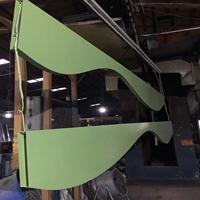 幕墙氟碳铝合金铝方通_木纹幕墙弧形铝方通