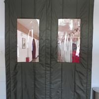 北京旭日环照生产销售大视窗可定制加厚棉门帘