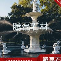 公園石雕噴泉水景  大理石水缽噴泉