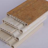 厂家直营室内集成墙板配套装饰线 竹木纤维老款100踢脚线