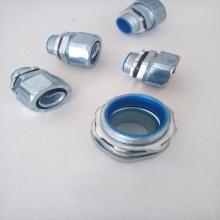 锌合金防水金属软管接头供应 G3/4寸蛇皮管外丝接头现货