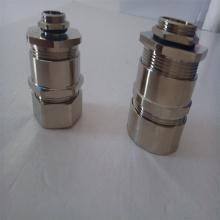 供应金属电缆软管接头 防水波纹管接头黄铜材质