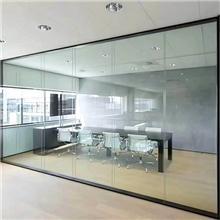 写字楼全景透明现代化玻璃隔间,无缝隙无框全透隔断