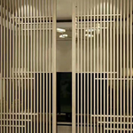 直销木纹艺术格栅铝窗花隔断