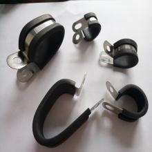 新能源线束固定座 双管不锈钢包胶线卡21*2