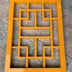 红橡木色铝花格-防盗铝花格窗设计定制