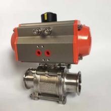 三精GUQ-(F)卡套连接气动不锈钢真空球阀GB4982标准