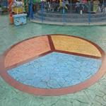 淮北彩色水泥压模哪家强淮北压模路面制作混凝土材料