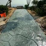 孝感压模路面制作的特点孝感彩色水泥压模采购价格低