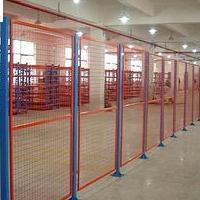 仓储中间隔离网-浸塑1.8米*3米车间隔离围网生产厂家