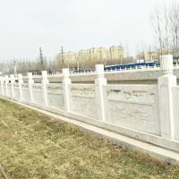 草白玉栏杆厂家-供应陕西省草白玉石栏杆雕刻制作与安装