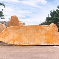 武汉黄蜡石景观石,优质黄蜡石现货长度8米
