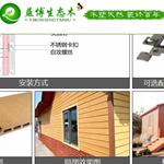 户外木塑共挤墙板 室外塑木共挤墙板 防水
