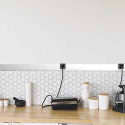 艾宝沃安全轨道插座 可嵌入墙面、柜面、桌面。