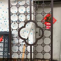 全国定制老房子四合院木纹复古窗花厚板雕刻铝单板中式铝合金门窗