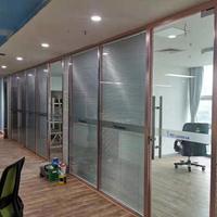 深圳厂家加工销售办公室玻璃隔断铝型材屏风型材